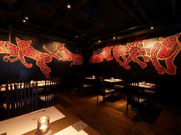 日本料理 豹紋