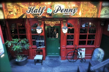 IRISH PUB HALF PENNY 大名店